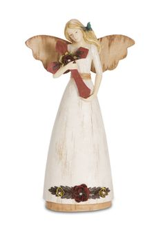 "Faith, 9"" Angel Holding Cross - Simple Spirits - Pavilion Gift Company"