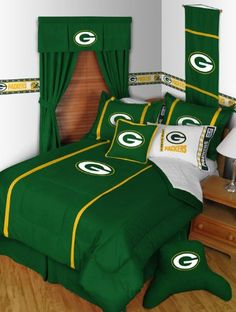 Green Bay Packers 5pc TWIN Bedding Set, Comforter, Pillow Sham, Sheets, MVP, NEW, NFL, Football, IN STOCK From Dream Time Kids Bedding