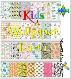 Sims 4 CC's - The Best: Kids Wallpapers Part 1 by Annett85