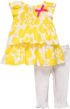 e8a93075f393 Carter's 2-Piece Legging Set - White/Yellow Floral-NB Carter's,http. Cute Baby  GirlCarters ...