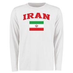 Iran Flag Long Sleeve T-Shirt - White