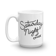 Saturday Night Live Script Logo White Mug