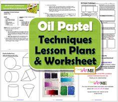 Oil Pastel Techniques Lesson Plans & Worksheets Header