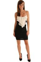 DHStyles Women's Black Ivory Sultry Sleeveless Empire Dress