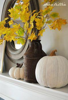 Dear Lillie: A Simple Autumn Mantel