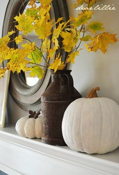 Dear Lillie: A Simple Autumn Mantel