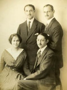 "Otto Frank with his siblings: Robert, Otto, Helene ""Leni"" and Herbert, 1914"