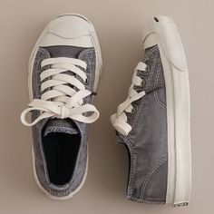 J Crew garment - dyed Jack Purcell sneakers