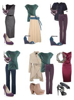 Soft Summer looks by sabira-amira Summer Color Palettes, Soft Summer Color Palette, Summer Colors, Summer Wardrobe, Capsule Wardrobe, Winter Typ, Seasonal Color Analysis, Soft Autumn, Fashion Colours