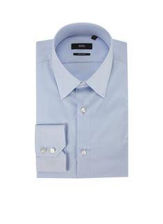 Hugo Boss overhemd. Regular fit met wijde kraag. 89,95,-