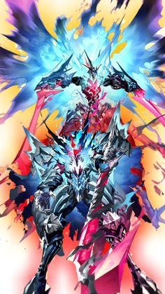 Fantasy Demon, Fantasy Beasts, Demon Art, Fantasy Weapons, Fantasy Warrior, Dark Fantasy Art, Legendary Dragons, Super Anime, Dragon Rpg