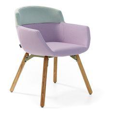 Artifort Mood 4 Leg Wood Frame Chair found on Polyvore