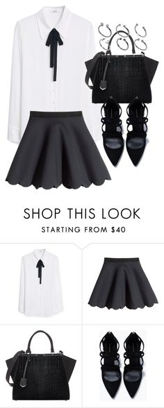 """""""Untitled #19170"""" by florencia95 ❤ liked on Polyvore featuring MANGO, H&M, Fendi, Zara and ASOS"""