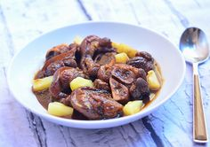 Pata Hamonado is a Filipino dish made of pork leg braised in pineapple juice, soy sauce and brown sugar