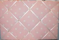 Large Laura Ashley Pink Polka Dot Hand Crafted Fabric Notice / Pin / Memo Board