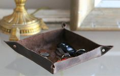 Make This Leather Catch-All Tray (and Keep Your Keys, Coins and Clutter Contained) | eHow Home | eHow