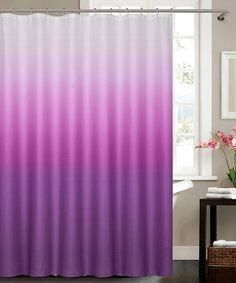Danielu0027s Bath U0026 Beyond Purple Ombré Shower Curtain
