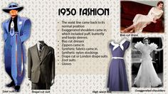 1930's Fashion: Jargons - Product catagories