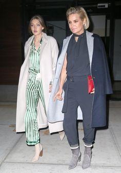 Gigi Hadid Photos Photos - Model Gigi Hadid and her mother Yolanda Hadid are seen out having dinner in New York City, New York on April 13, 2017. - Gigi Hadid and Mom Yolanda Hadid Go Out for Dinner in NYC