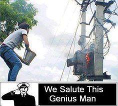 AdictaMente: Algunos casos muy serios de WTF! omg electricidad y agua ...genius.