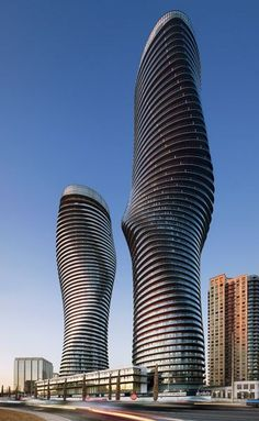 The Absolute World residential high-rises in Mississauga, Ontario, designed by MAD Architects.