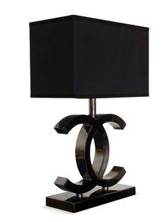 Chanel home design Chanel Lamp, Chanel Decor, Chanel Bedroom, Chanel Bedding, Table Lamps For Bedroom, Decoration Inspiration, Style Inspiration, Home And Deco, Home Living