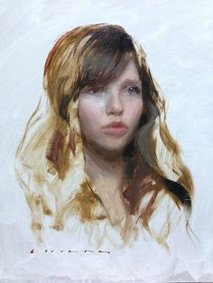 """Sketch of a Girl"" Casey Childs $2,300 14"" x 11"""