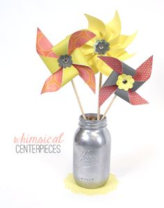 Silhouette Blog: DIY Table Decor - These would be cute in red white and blue for a fourth of July party.