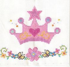 Princess crown cross stitch 2-2