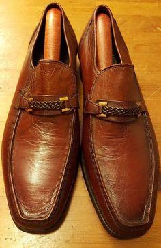 Vtg., The Florsheim Shoe - Imperial, Reddish Brown, Horsebit, Loafers (Size 8C)…