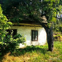 Alsótold... Old Country Houses, Country Life, Country Living, Gnome Village, Small Cottages, Winter Landscape, Traditional House, Hungary, Home Art