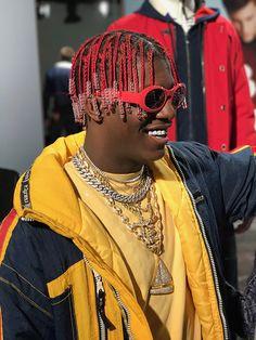 Lil Yachty's Nautica Men's Fashion Week Photo Diary Mens Braids Hairstyles, Twist Hairstyles, Boat Fashion, Urban Fashion, Box Braids Men, Boys Colored Hair, Lil Yachty, Hair Reference, Mens Fashion Week