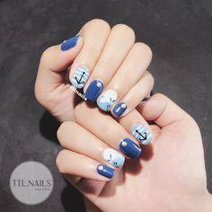 ideas for nail art design easy cute Fingernails Painted, Beauty Hacks Nails, Best Nail Art Designs, Cool Nail Art, Blue Nails, Nail Arts, Christmas Nails, Swag Nails, Nails Inspiration