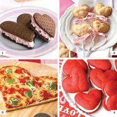 Galletas, pizza, empanadas y sándwiches, todo en forma de corazón para este San Valentín.