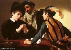 Card Players by Caravaggio, c1595