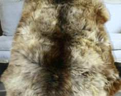 WOW! RARE real, Beautiful, Natural, unique Sheepskin Rug, Pelt, soft, thick fur Sheepskin Rug, Vintage Marketplace, Etsy Uk, Fur, Natural, Unique, Handmade, Beautiful, Hand Made