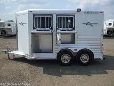 Circle M Trailers 2017 2 horse bumper pull with mangers Horse Trailer by Platinum Coach | Kaufman, Texas