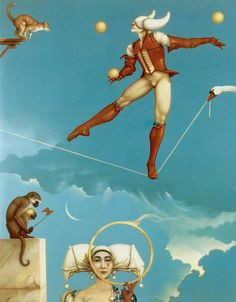 """Illusion of Change"" oil painting by Michael Parkes"