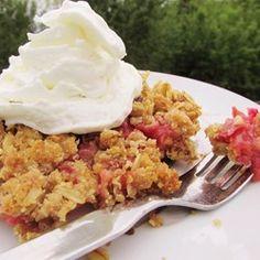 Royal Rhubarb Crisp