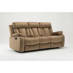 Beau GU Industries Microfiber Fabric Upholstered Living Room Recliner Sofa  #recliningsofa