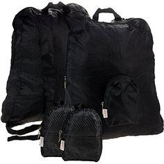 2 Belle Hop Stash Packs Packable Foldable Backpacks Lightweight Travel Hiking Daypack Black 12L >>> Click image for more details. (Note:Amazon affiliate link)