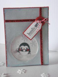 Winter penguin shaker card