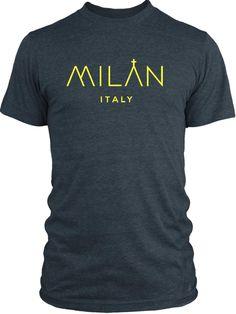 Big Texas City of Milan (Yellow) Vintage Tri-Blend T-Shirt