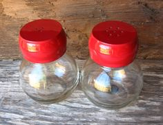 Country Red Salt and Pepper Shakers by happybdaytome on Etsy, $9.50