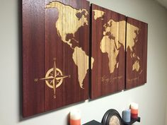 Wooden World Map Wall Art carved wooden map, luxury home wall decor, office decor, wood