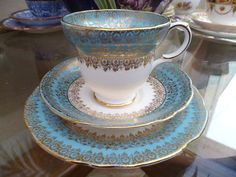 Lovely Vintage Gladstone China Trio