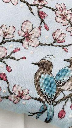 Cross Stitching, Needlepoint, Embroidery Designs, Cushions, Throw Pillows, Bird, Handmade, Cross Stitch Embroidery, Toss Pillows