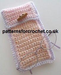 Free crochet patterns for specticle glasses case from http://www.patternsforcrochet.co.uk/glasses-case-usa.html #crochet