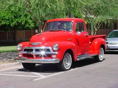 1954 Chevy Red
