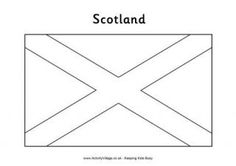 Scotland Flag Colouring Page